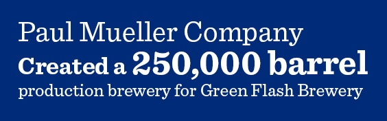 Mueller created a 250k barrel production brewery for Green Flash