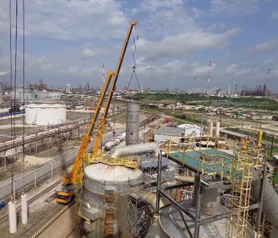 Onsite tank fabrication under deadline