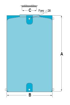 Storage-Tank-Vertical-Drawing
