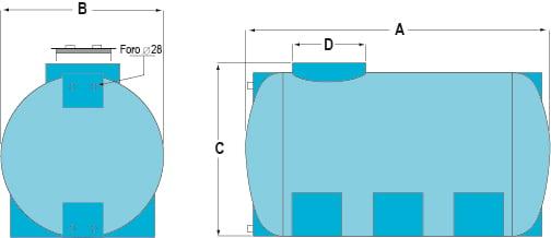Storage-Tanks-Horizontal-Drawing