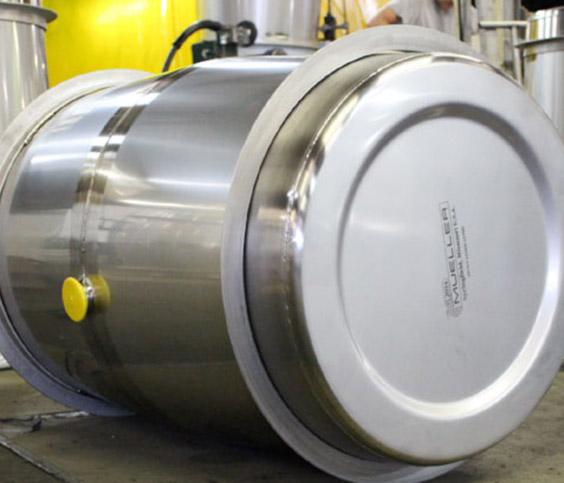 Paul Mueller Company Metal Wine Barrels