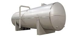 Horizontal standard beverage storage tank