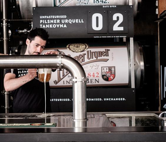 Pilsner Urquell Serving Beer Tank Install