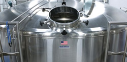 Lauter tun in brewery