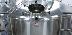 Lauter tun in brewery