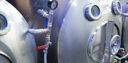 Serving Beer Tanks in Brewery