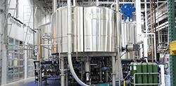 Lauter tun inside brewery