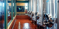 Brewing equipment in a brewery