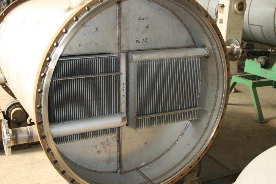 DEG head condenser