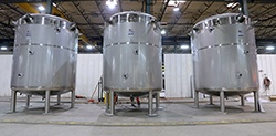 Custom dairy tanks