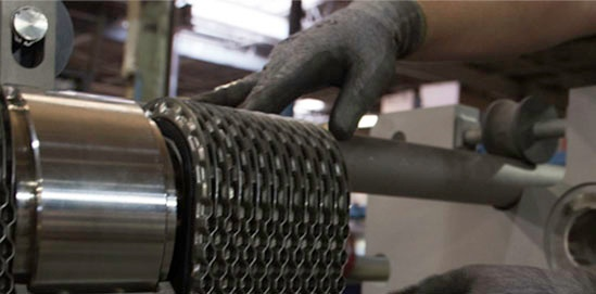 Assembly of a plate heat exchanger