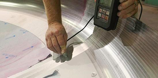 Vérification de l'épaisseur de matériaux