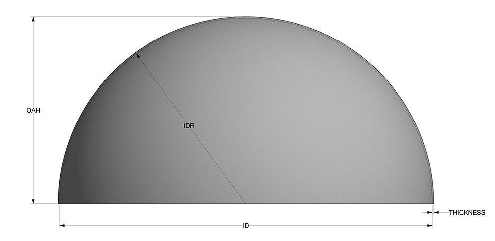 hemispherical tank head